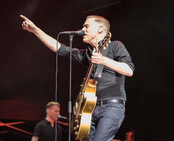 Bryan Adams Lights Up The Night At Charlotte Metro Credit Union Amphitheater