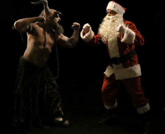 Santa Takes On Krampus In Epic Metal Christmas Video