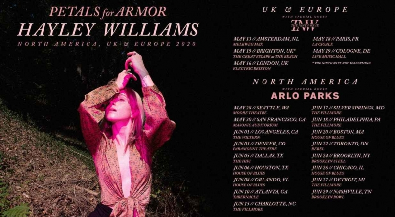 "Hayley Williams Announces ""Petals For Armor"" Solo Tour"