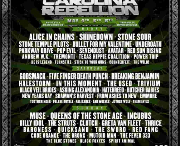Carolina Rebellion announces lineup, internet loses their mind
