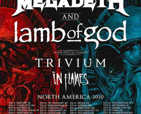 Megadeth and Lamb of God Announce 2020 Co-headlining Tour