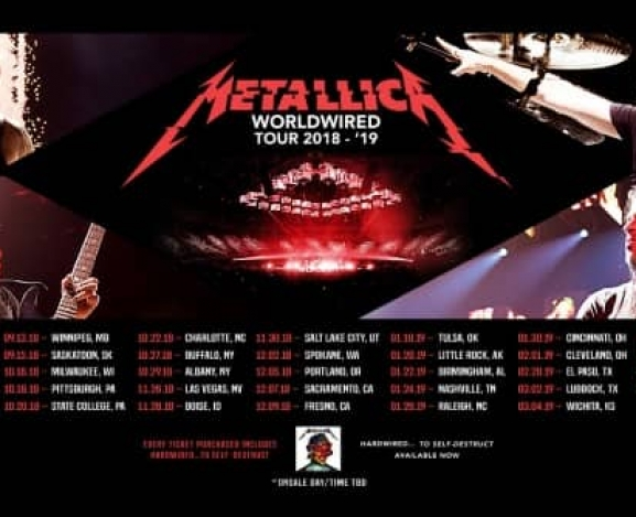 Metallica Announce Second Leg Of North American WorldWired Tour
